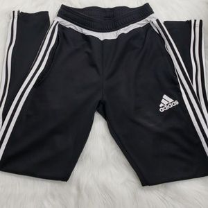 Adidas Black and White Trainer Pants Small